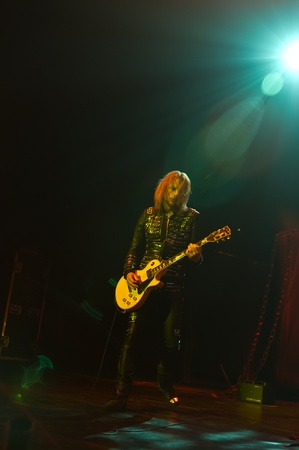Springfield, Illininois - November 09 2011 - Guitarist Richie Faulkner during the opening set of the Judas Priest tour