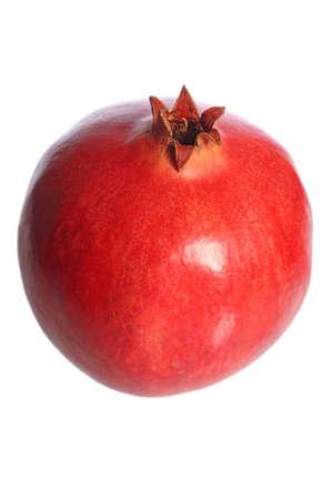 Pomegranate fruit, isolated on white background