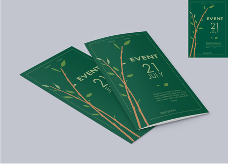 ECO-friendly Event Flyer is good for your eco-friendly party, event, presentation, nature blog, nature lecture, meeting, vegan meeting .The font used in flyers is standart