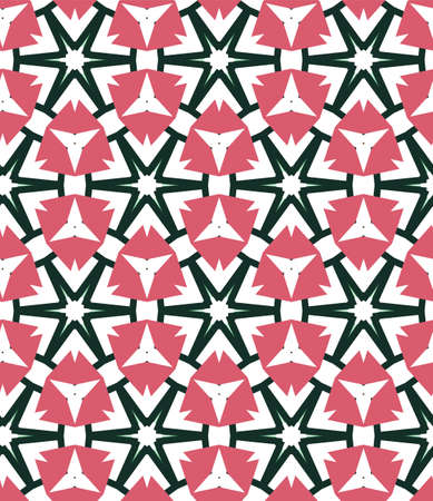 Nahtloses geometrisches dekoratives Vektormuster. Abstrakter Hintergrund
