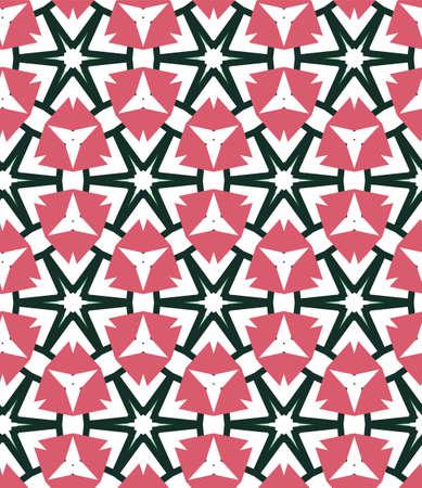 Patrón de vectores ornamentales geométricos sin fisuras. Fondo abstracto