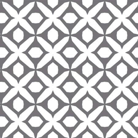 Patrón de vector transparente en estilo ornamental geométrico