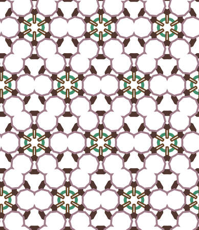 Seamless vector pattern. Background texture in geometric ornamental style.
