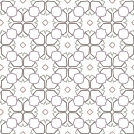 Seamless geometric ornamental vector pattern. Abstract background Illustration
