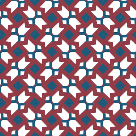 Seamless geometric ornamental vector pattern. Abstract background Banque d'images - 129854916