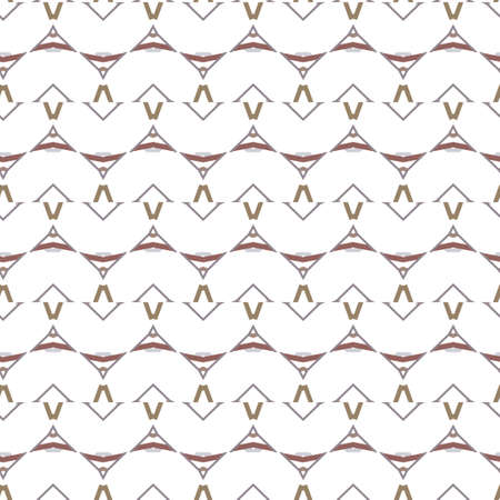 Seamless vector pattern in geometric ornamental style Banque d'images - 129854932