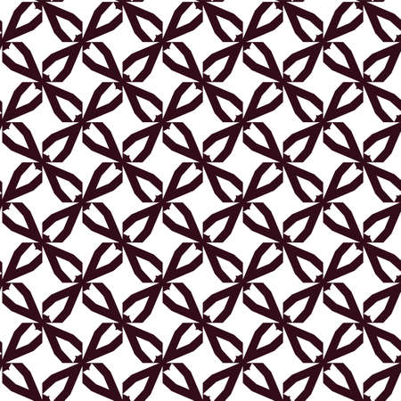 Seamless vector pattern. Background texture in geometric ornamental style. Banque d'images - 129854969