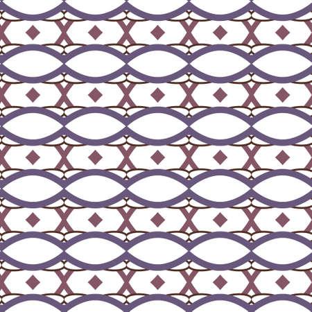Seamless vector pattern in geometric ornamental style Vektorové ilustrace