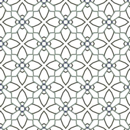Seamless geometric ornamental vector pattern. Abstract background Иллюстрация
