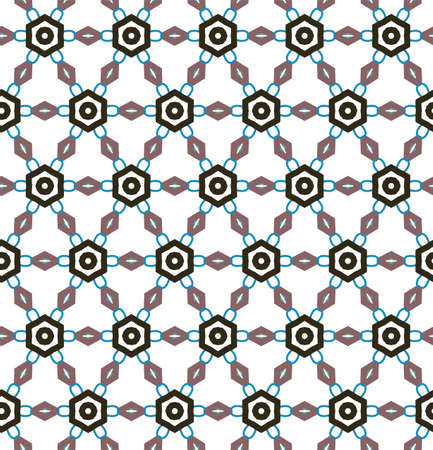 Seamless geometric ornamental vector pattern. Abstract background Ilustração