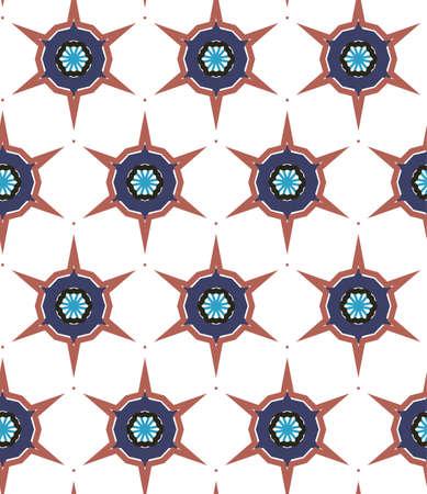 Seamless vector pattern in geometric ornamental style 向量圖像