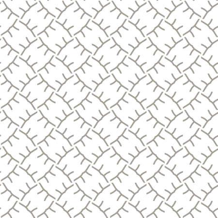 Patrón de vector transparente. Textura de fondo en estilo ornamental geométrico. Ilustración de vector