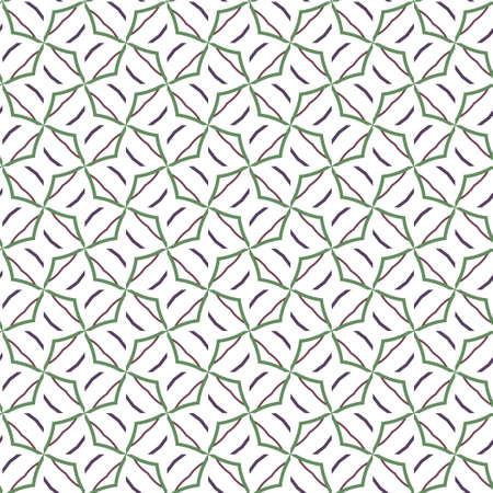Abstrakte Hintergrundtextur im geometrischen Zierstil. Nahtloses Design. Vektorgrafik