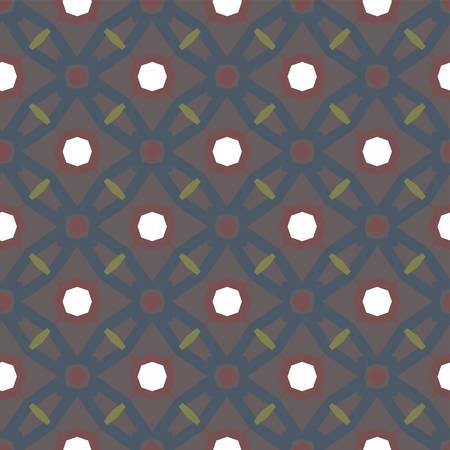 Seamless geometric ornamental vector pattern. Abstract background Stock Illustratie