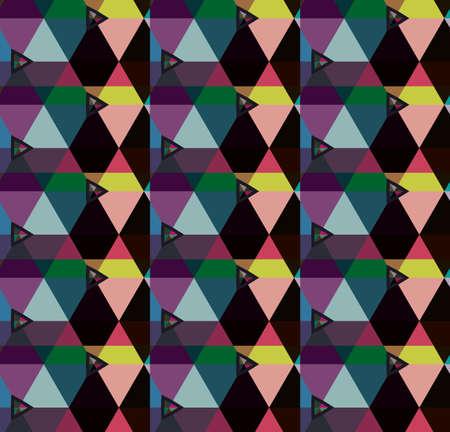 Modèle vectorielle continue dans un style ornemental géométrique