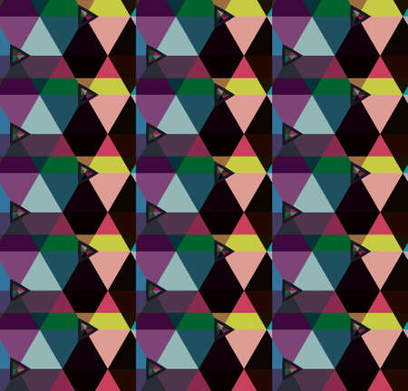 Modello vettoriale senza soluzione di continuità in stile ornamentale geometrico