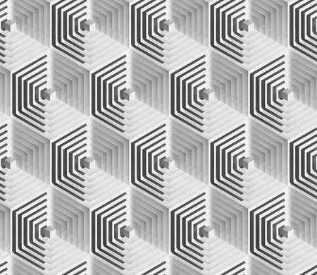 볼륨 현실적인 언리얼 텍스처, 회색 큐브, 3D 기하학적 패턴, 디자인 배경