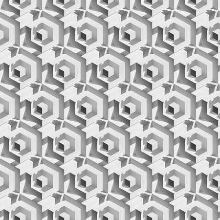 Volume realistic unreal texture, gray cubes, 3d geometric pattern, design background