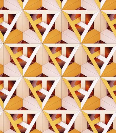 3d 일러스트 레이 션, 기하학적 색 색깔의 종이 원활한 장식