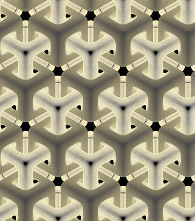 서라운드 빛나는 트위스트 큐브, 3D 기하학적 무늬 디자인 배경