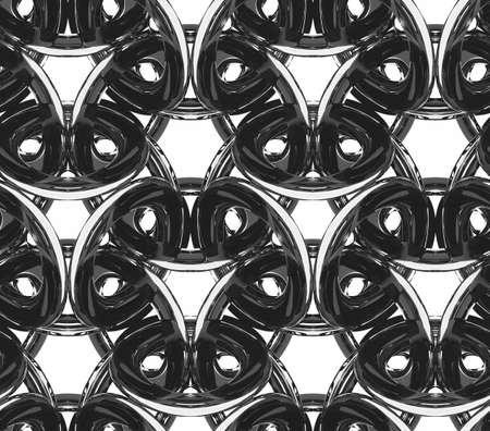 투명 한 플라스틱, monochrom 원활한 패턴, 3d 벽지 이미지에서 만든 3D 체인 스톡 콘텐츠