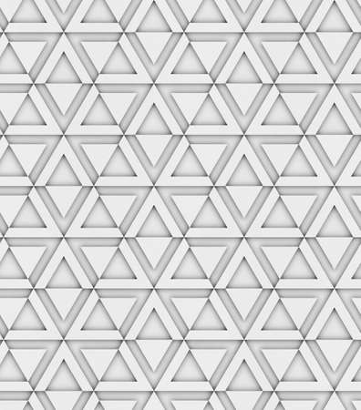 3d geometric decorative seamless pattern, triangles and hexagons, design background