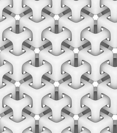 3d monochrome texture, a chain of cubes on white background ,3D geometric wallpaper