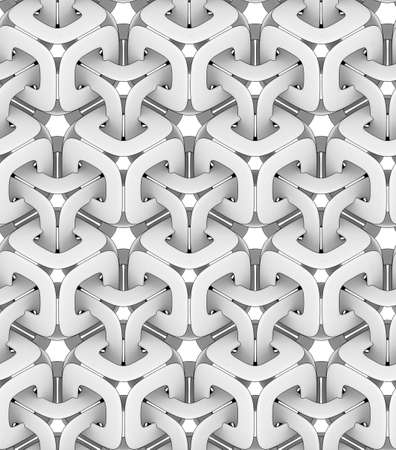 monochrome geometric chain, 3D print, seamless decorative wallpaper Zdjęcie Seryjne