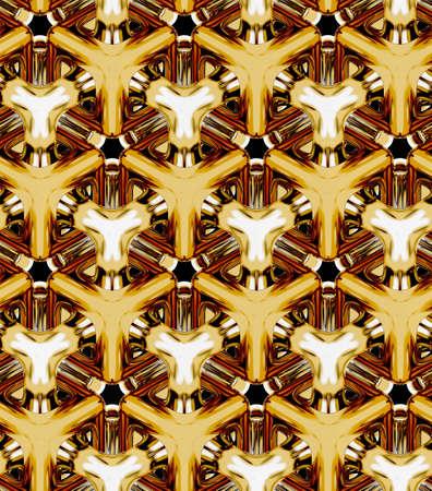3D 현실적인 질감, 골드 볼륨 큐브, 3D 기하학적 배경 화면