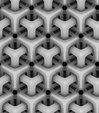 검정색 배경, 회색 큐브, 3 차원 기하학적 무늬, 디자인 배경에 볼륨 흑백 큐브 스톡 콘텐츠