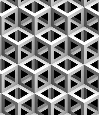 단색 기하학적 3d 텍스처 검정색 배경, 원활한 장식용 벽지