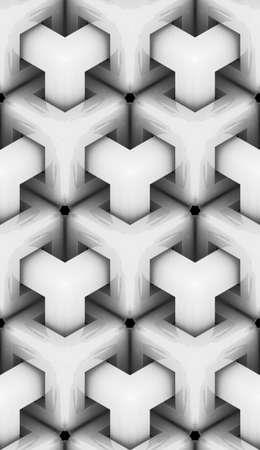 단색 형상 3d 질감, 흰색 광택 재료, 원활한 장식 벽지