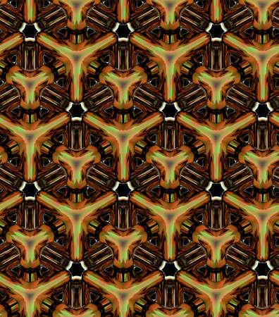 3d 황금 큐브, 원활한 질감, 골드 큐브, 3d 기하학적 벽지 및 배경
