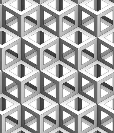 단색 기하학적 3d 텍스처 흰색 배경에, 원활한 장식용 벽지, 검은 색 선형 얼굴