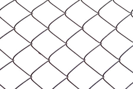 Chain link fence isolated on white background Stock Photo - 927435