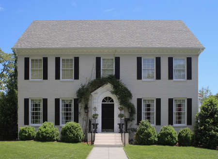 Luxury single-, two-story home in Raleigh, NC Stock Photo - 1827714