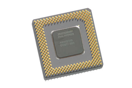 intel: CPU Isolated on White Background Stock Photo