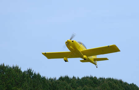 Small private airplane lifting off