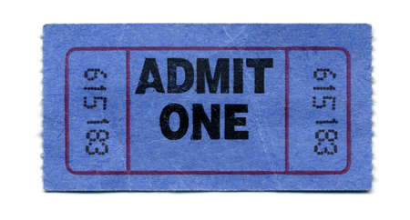admission: Close-Up of General Admission Ticket