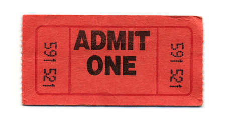 Close-Up of Red General Admission Ticket