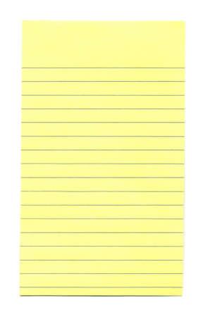 todo: Close-up de papier jaune acte isol� sur un fond blanc  Banque d'images