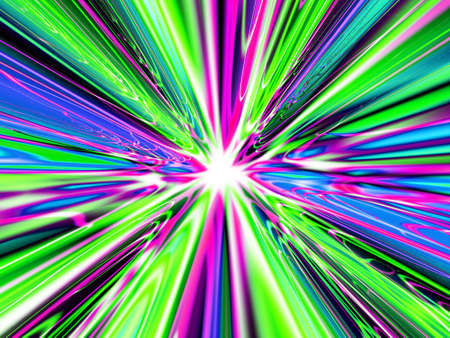 A high res, computer generated image that simulates light at the end of a heavenly tunnel, the speed of light, or a time warp Stock Photo - 2138371