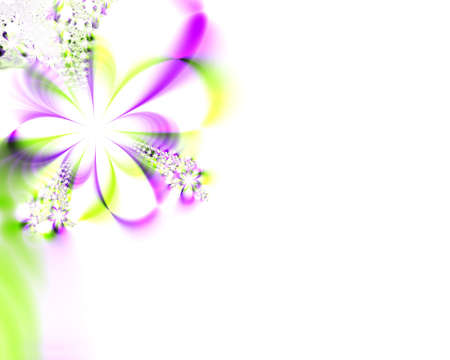 A high resolution, computer generated, fractal design simulating a flower invitation for weddings, showers, or other special events (such as Mothers Day, Easter, or Valentines Day).