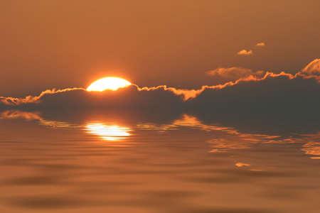 Sunrise Over Fog Water