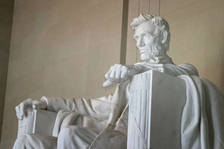 abraham lincoln: Left side view of Lincoln Memorial.  Taken on location in Washington, DC. Stock Photo