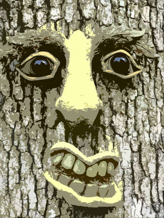 Face of a Tree Monster