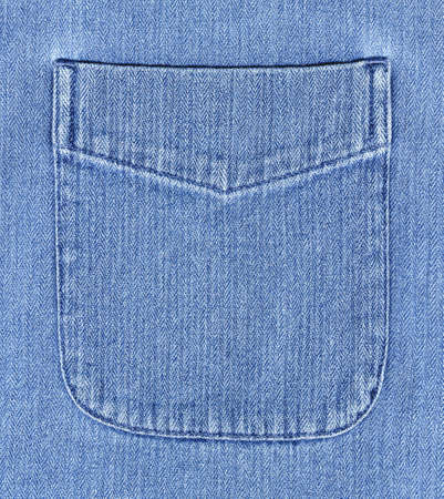 High resolution image of a denim shirt pocket Stock Photo
