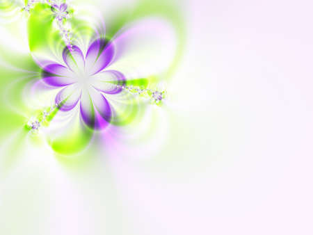 A high resolution fractal simulating a flower invitation for weddings, showers, or other special events (such as Mothers Day, Easter, or Valentines Day).