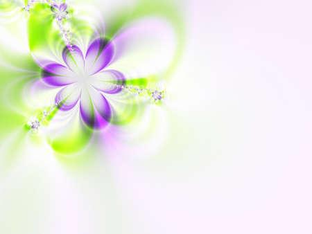 Un fractal de alta resolución simulando una flor invitación para bodas, duchas, u otros eventos especiales (como el Día de la Madre, Pascua, o el Día de San Valentín).  Foto de archivo - 2512644