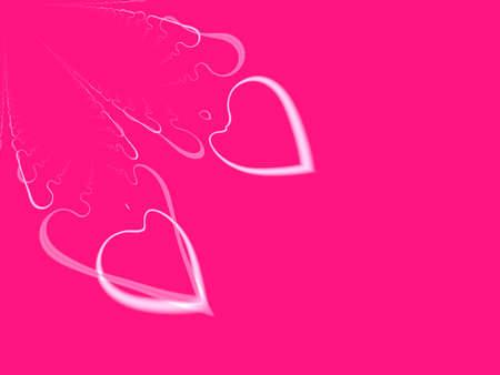 Een hoge resolutie, computer generated, fractal design dat twee harten (soul mates), die kan worden gebruikt voor feestdagen en speciale gebeurtenissen (zoals Valentijnsdag, Moederdag, verjaardagen, en bruiloften) simuleert. Copyspace is opgenomen. Stockfoto - 2512643
